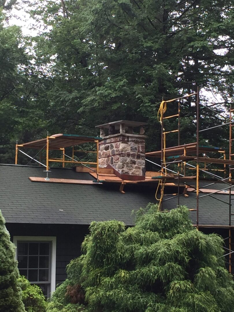 Chimney is falling apart with water infiltration